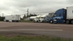 Tensions are rising at truck stop in N.B.