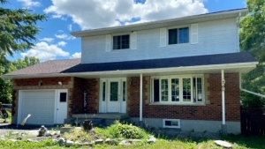 Newlyweds Leanne Lebel and Kyle Ellis purchased this home in Ennismore, which is northeast of Peterborough, in February 2021.