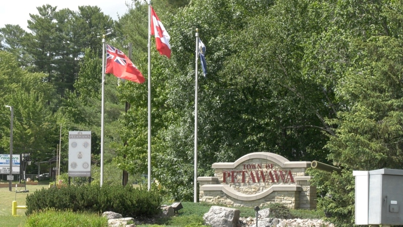 The town of Petawawa has voted not to fly a Pride flag because of a rule that forbids the town from making any public proclamations. (Dylan Dyson/CTV News Ottawa)