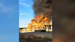 Officials investigating massive fire in Kitchener