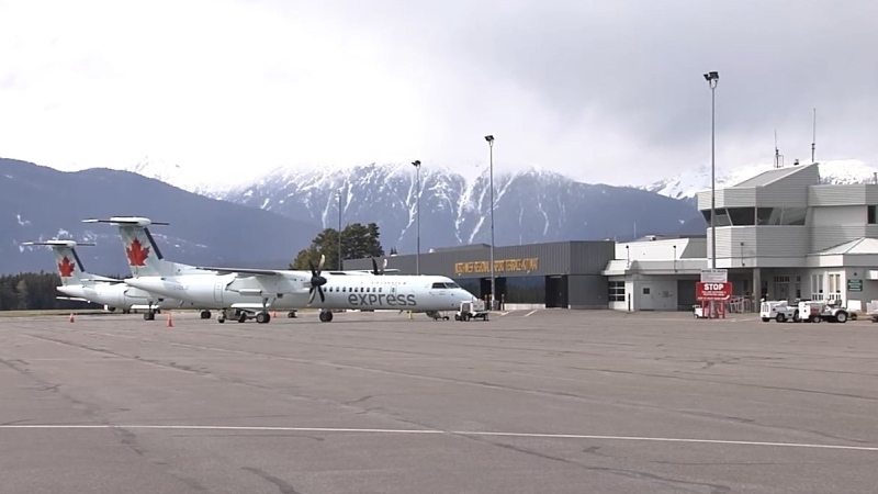 The Northwest Regional Airport (YXT), located south of Terrace. (Photo source: Hillary Johnson/CFTK).