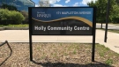 The Holly Community Centre in Barrie, Ont. is being used as a COVID-19 clinic, which could impact the minor hockey upcoming season. Wed. June 23, 2021 (Rob Cooper/CTV News)