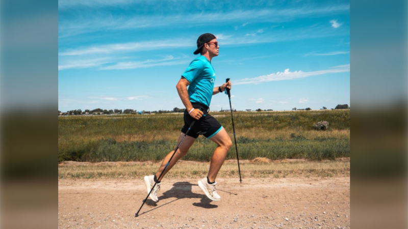 24-year-old ultra marathon runner Skylar Roth-MacDonald grew up playing soccer, but now he's putting his stamina to the test by running across Canada. (Supplied/Christopher Sookrah)