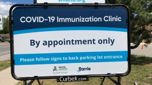 With recreation facilities being used as vaccination clinics around the region, some are concerned that ice time may be impacted in the fall on Tuesday, June 23. (Rob Cooper/CTV NEWS)