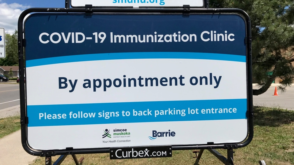 Barrie vaccination clinic