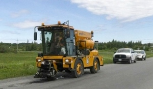 Anticipation has been brewing for Timmins to have its first semi-automated pothole patcher machine – the Python 5000 -- maintaining city roads. (Photo from video)
