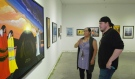 """A new art exhibit at the WKP Kennedy Art Gallery in North Bay is highlighting the """"unseen resiliency"""" of Indigenous people after they have faced in the wake of troubling trials and tribulations. (Eric Taschner/CTV News)"""