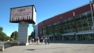 The entrance to the Save-On-Foods Memorial Centre in Victoria is shown: (CTV News)