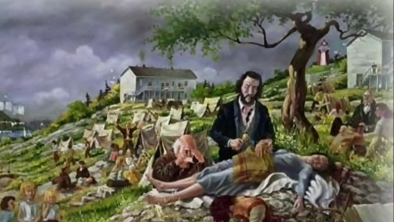 The tragic tale of a 19th century Irish doctor who made it his mission to help sick and suffering immigrants stranded on Partridge Island's quarantine station during the typhus epidemic, has been immortalized in a new song written by a musician from the Emerald Island. (COURTESY HAROLD WRIGHT)