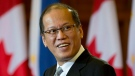 Philippine President Benigno S. Aquino III responds to a question during a joint news conference with Canadian Prime Minister Stephen Harper on Parliament Hill Friday May 8, 2015 in Ottawa. (THE CANADIAN PRESS/Adrian Wyld)