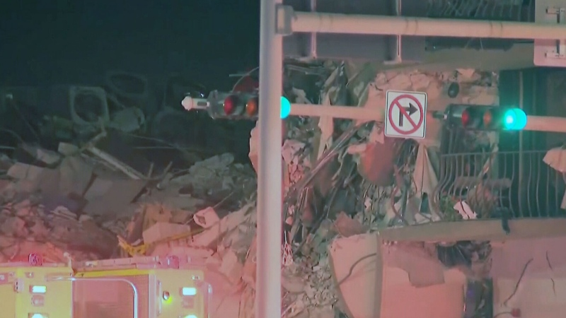 Search is on for survivors after building collapse