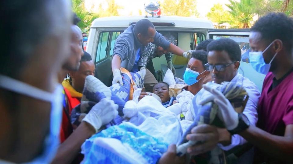 Ethiopia airstrike victim