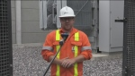 Kyle England, Greater Sudbury Hydro, a $3.25 million refurbishment project to equipment and how will it impact service. June 23/21 (Alana Everson/CTV Northern Ontario)