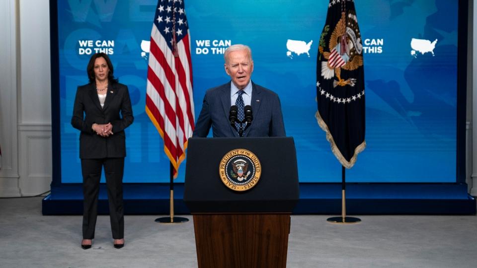 Joe Biden speaks about vaccines