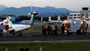 A toddler was airlifted to hospital on June 23, 2021, after a car crash in Langley.