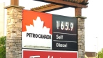 Gas prices in Metro Vancouver on June 24, 2021.