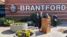 Police provide an update on Brantford homicides (Heather Senoran / CTV News Kitchener)