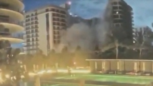 Video shows moment of building collapse in Miami
