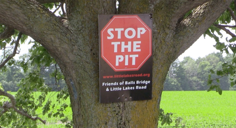 A sign opposing a proposed gravel pit in Huron County, Ont. on Thursday, June 24, 2021. (Scott Miller / CTV News)