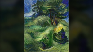 Emily Carr's 1939 forest scene 'Tossed by the Wind' is seen in an image posted by Canadian auction house Heffel.