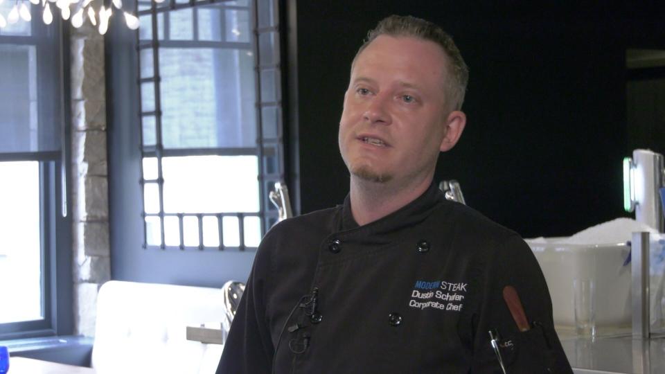 Modern Steak chef Dustin Schafer.