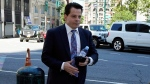 Anthony Scaramucci arrives at Federal court, in New York, Thursday, June 24, 2021. Scaramucci was to testify in the trial of Chicago banker, Stephen Calk, on charges he tried to buy himself a senior post in former President Donald Trump's administration by making risky loans to Trump onetime campaign chairman, Paul Manafort. (AP Photo/Richard Drew)