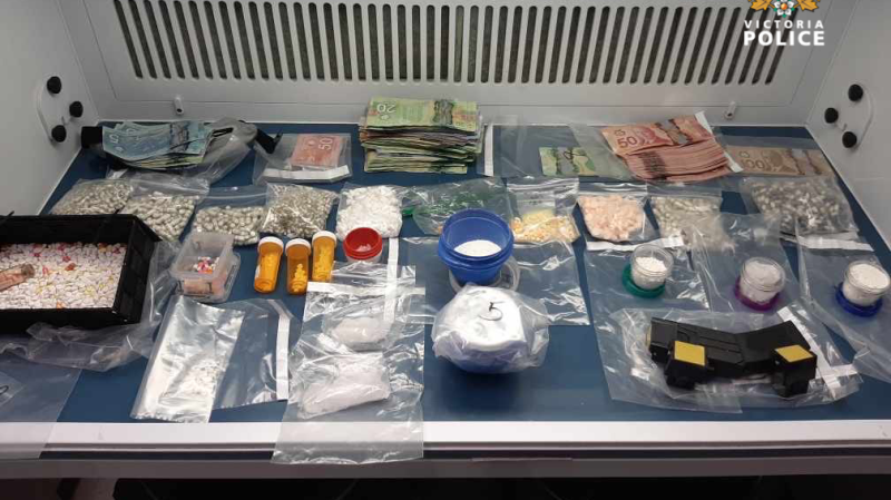 Some of the items seized last week are shown: (Victoria Police)
