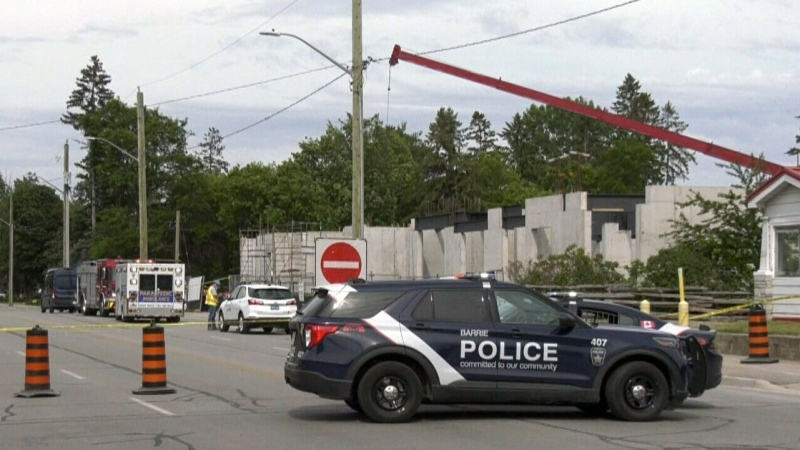 Industrial accident in Barrie