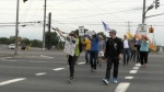 Show of support for striking Vale workers