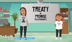 The Anishinabek Nation, which represents thousands of Indigenous people in Ontario, is unveiling a new interactive online treaty education resource called 'Ezhi-nawending: How We Are Related.' (Eric Taschner/CTV News)