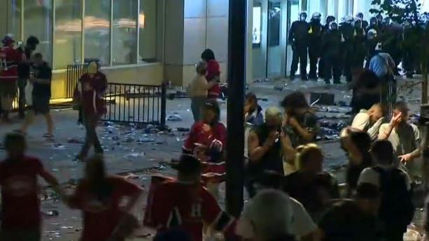 Fireworks Habs riot