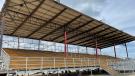 The newly renovated Legacy Co-op Grandstand at the Yorkton Exhibition Grounds. (Kaylyn Whibbs/CTV News)