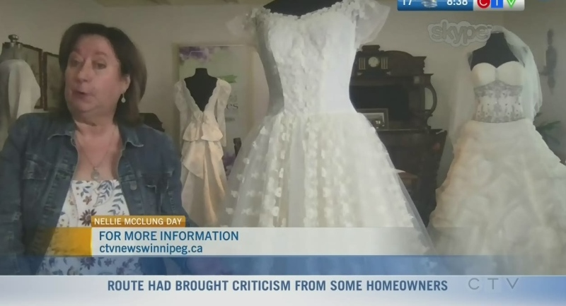Human Rights advocate Gail Asper and even CTV's Rachel Lagacé's wedding dresses are on display in new exhibit. Rachel Lagacé explains