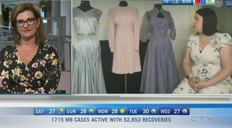 In the 1930s, '40s and '50s, coloured wedding dresses were the rave. Rachel Lagacé has more.