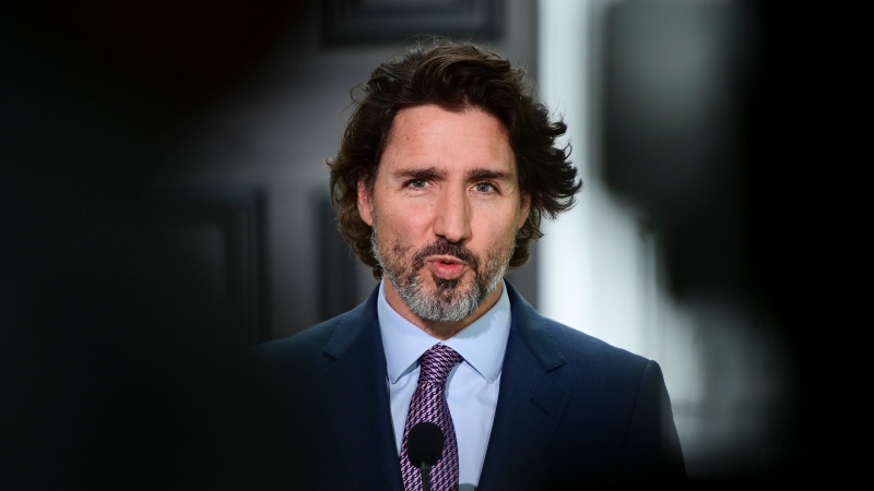 Prime Minister Justin Trudeau holds a press conference at Rideau Cottage in Ottawa on Friday, June 25, 2021. THE CANADIAN PRESS/Sean Kilpatrick