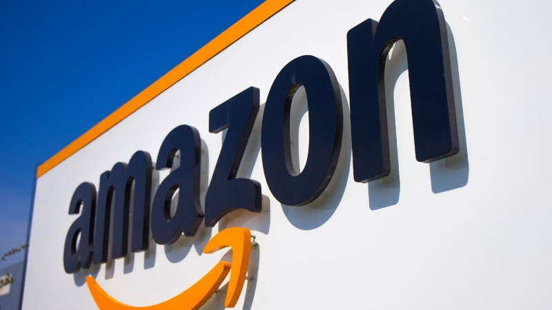 FILE - In this Thursday April 16, 2020 file photo, The Amazon logo is seen in Douai, northern France. (AP / Michel Spingler, File)