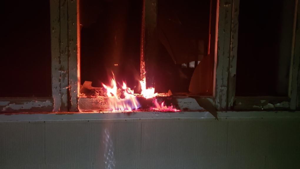 Siksika church fire, Siksika Nation, arson,