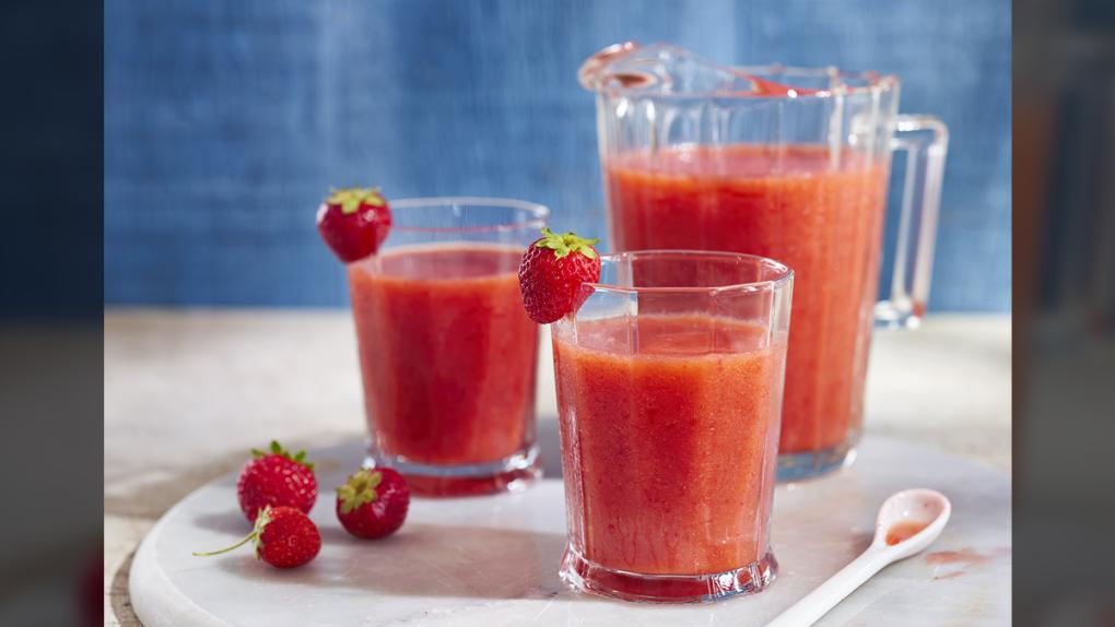 Strawberry Rhubarb Slushie