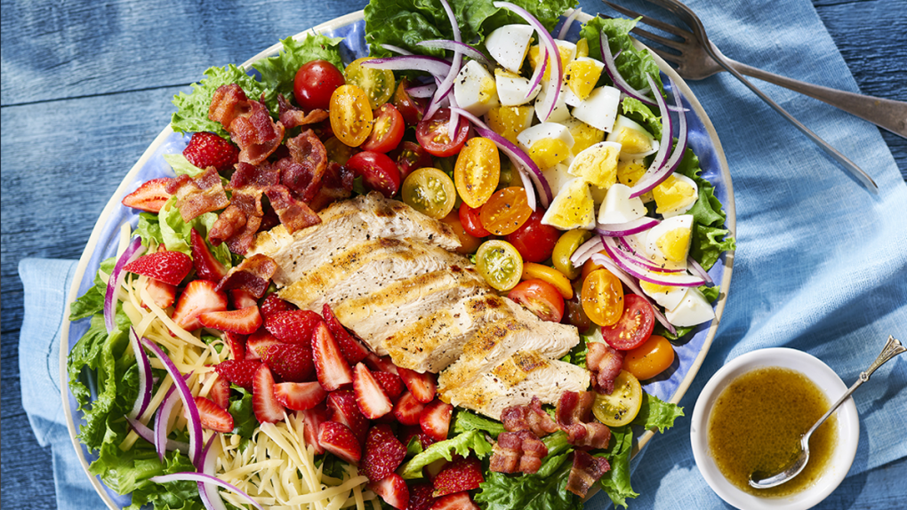 Strawberry Cobb Salad with Maple Dijon Dressing