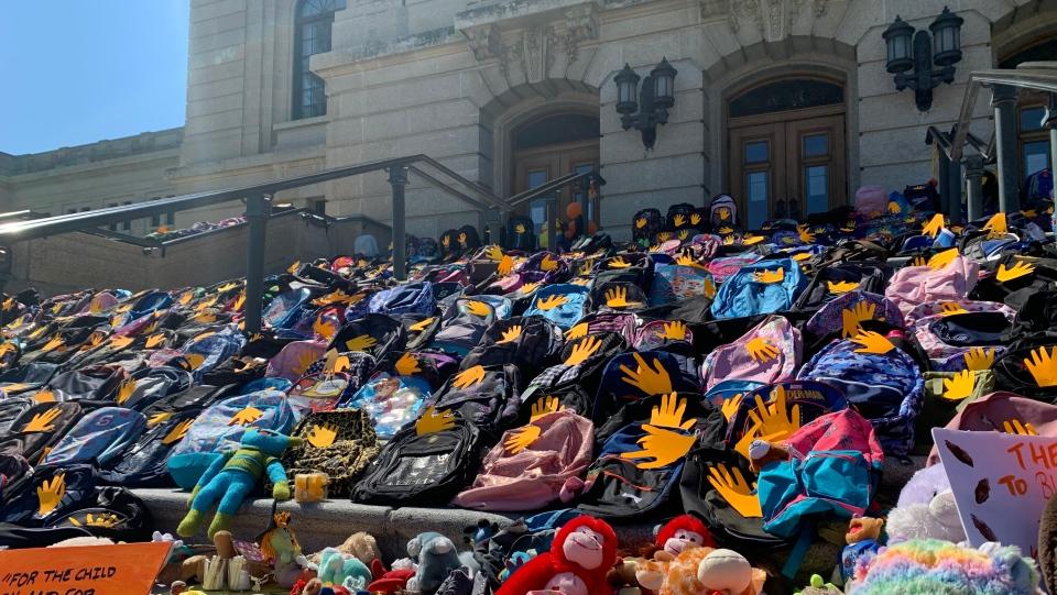 sask legislative building backpacks