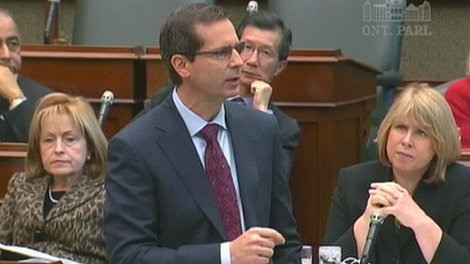Ontario Premier Dalton McGuinty speaks during question periood at Queen's Park in Toronto, Monday, Nov. 16, 2009.
