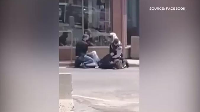 Violent arrest in Campbellton, N.B.