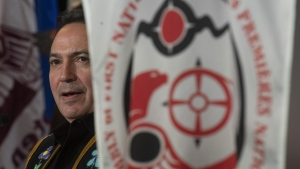 Assembly of First Nations Chief Perry Bellegarde is seen during the AFN Special Chiefs Assembly in Ottawa, Wednesday Dec. 4, 2019. (THE CANADIAN PRESS / Adrian Wyld)