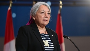 Mary Simon speaks during an announcement at the Canadian Museum of History in Gatineau, Que., on Tuesday, July 6, 2021. THE CANADIAN PRESS/Sean Kilpatrick