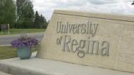 A University of Regina sign is seen in this file image. (Andrew Benson/CTV News)