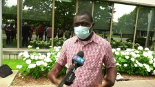 Mamadou Konaté was a janitor at a CHSLD during the peak of the pandemic but has not been granted status.