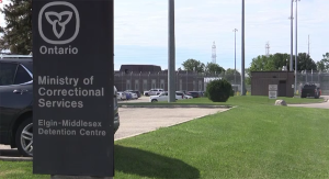 The Elgin-Middlesex Detention Centre in London, Ont. is seen Saturday, July 3, 2021. (Brent Lale / CTV News)