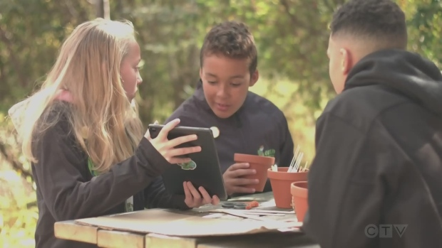 Newmont Porcupine's environmental initiatives includes educating youth through a group called Earth Rangers.