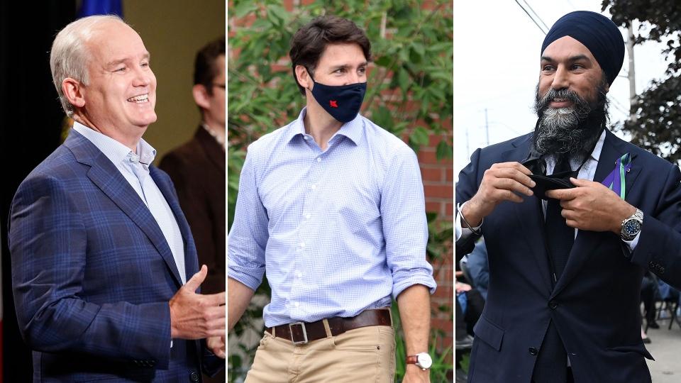 Composite; Trudeau, O'Toole and Singh