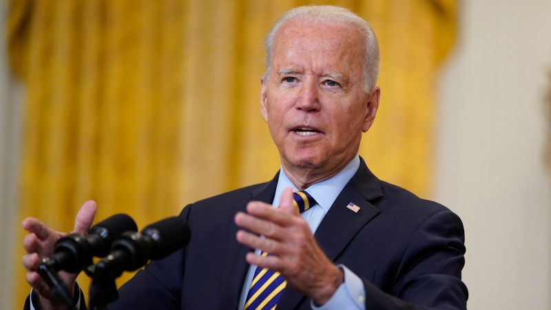 President Joe Biden speaks about the American troop withdrawal from Afghanistan, in the East Room of the White House, Thursday, July 8, 2021, in Washington. (AP / Evan Vucci)